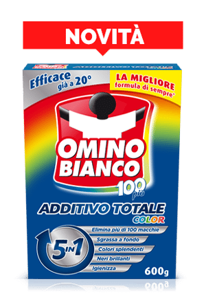 Omino Bianco 100 Additivo Totale Color Polvere 430 gr