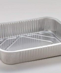Vaschette alluminio decla 8 porzioni senza coperchio 2 pezzi