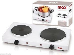 Fornello elettrico portatile Campeggio 2 piastre MAX
