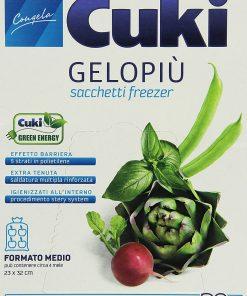 Cuki - Sacchetti Freezer Gelopiu', Formato Medio 23 x 32 cm - 20 pezzi