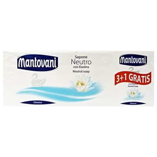 Saponette Mantovani Neutro 4 pezzi