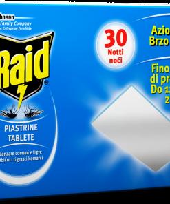 Piastrine ricarica zanzare Raid 30 pezzi