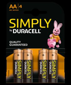 Duracell Batterie Stilo AA 4 pezzi