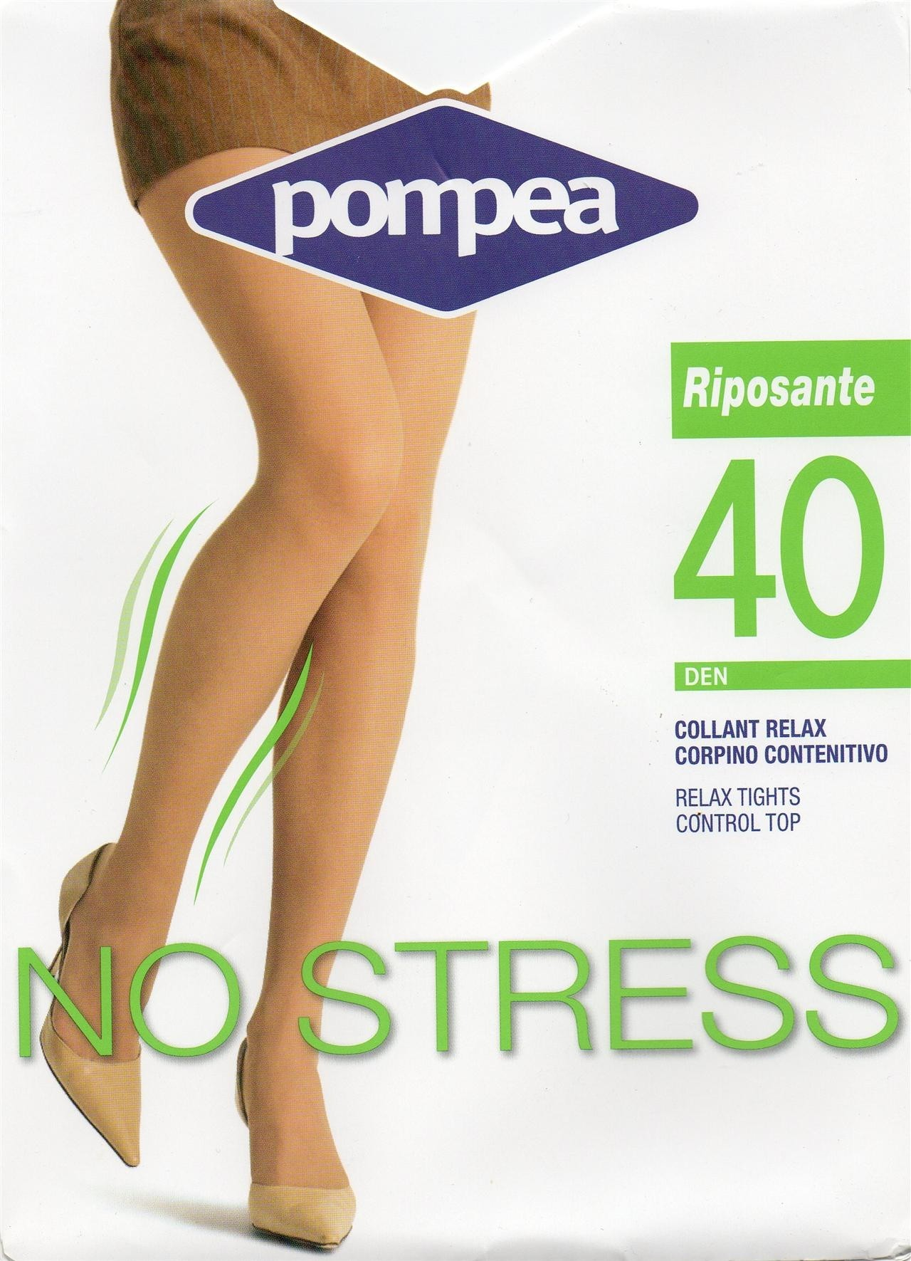 Nuovi Prodotti prezzi super popolare Calze Pompea 40 den riposanti 6 paia Claro color carne