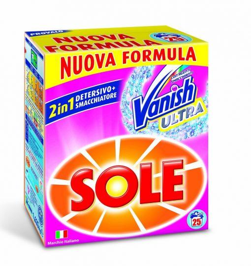 Sole Fustone Detersivo Polvere Con Vanish 25 misurini