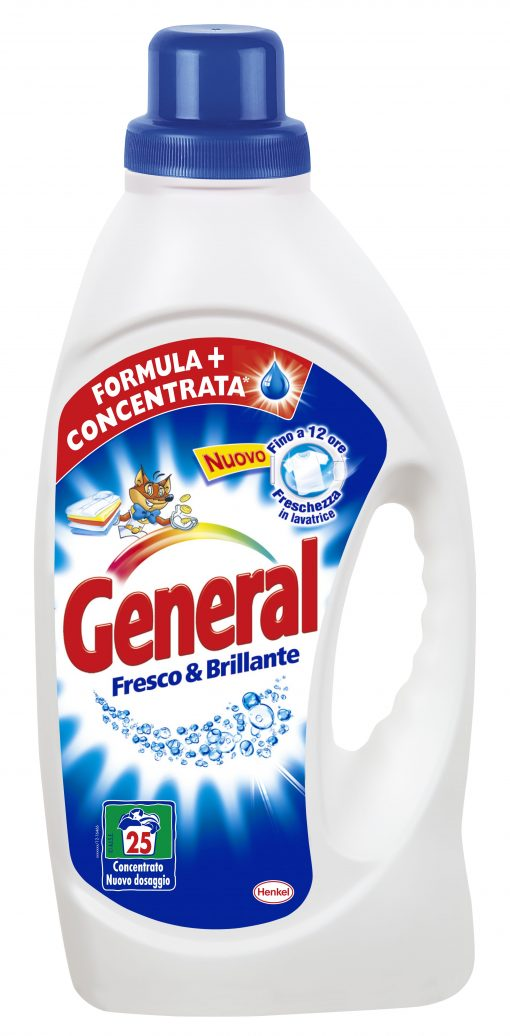 General Liquido Lavatrice Fresco e Brillante 21 misurini