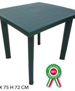 Tavolo componibile rettangolare verde Fiocco Progarden