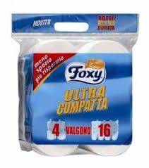 Carta Igienica Foxy Compatta 4 Rotoli