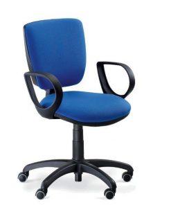 Sedia da ufficio moderna / in tessuto / con rotelle / girevole TORINO