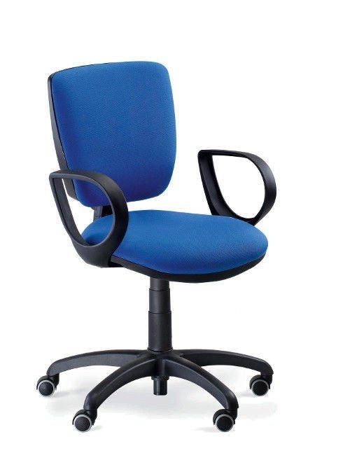 Sedia da ufficio moderna in tessuto con rotelle for Sedia ufficio rotelle