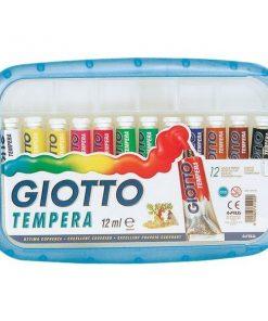 Tubetti tempera Giotto 12 ml confezione da 12