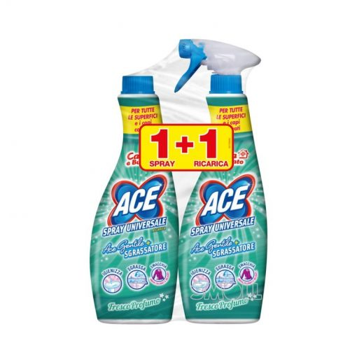 Ace Gentile Candeggina Spray con Sgrassatore 650 ml + ricarica 650 ml