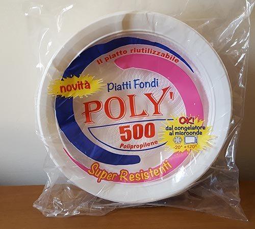 Piatti Monouso Poly mod 500 Piani e Fondi 20 pezzi