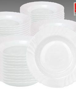 """Bormioli Rocco confezione 6 pz Piatti fondi Arcopal """"Ebro"""" 23 cm vetro robusto bianco"""