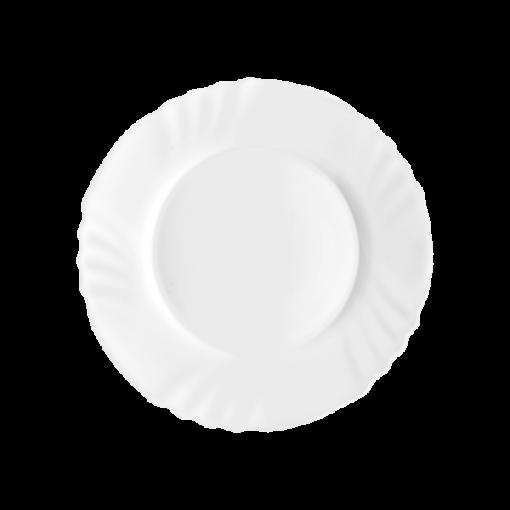 """Bormioli Rocco confezione 6 pz Piatti dessert Arcopal """"Ebro"""" 20 cm vetro robusto bianco"""