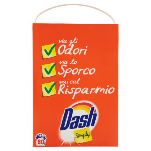 Dash Simply Detersivo In Polvere 80 Lavaggi