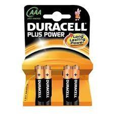 Duracell Batterie Ministilo AAA 4 pezzi