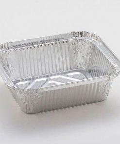 Vaschette alluminio decla 1 porzione con coperchio 4 pezzi