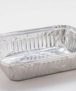 Vaschette alluminio decla 2 porzioni con coperchio 2 pezzi