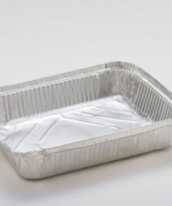 Vaschette alluminio decla 4 porzioni con coperchio 2 pezzi