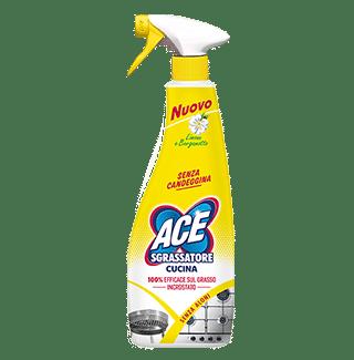 Ace Spray Sgrassatore Cucina Senza Candeggina Limone E Bergamotto 500 Ml Piazza Mercato Casa